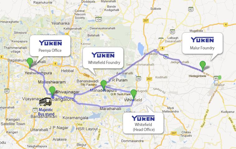 Majestic Bangalore Map Route Map   Yuken